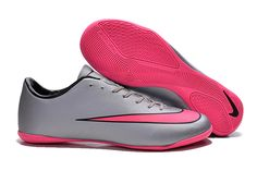 2015 Nike Mercurial Victory V Indoor Football Shoes silver pink