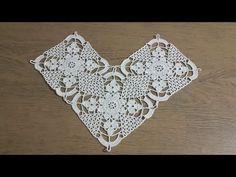 Crochet Square Patterns, Crochet Diagram, Crochet Squares, Crochet Motif, Crochet Doilies, Crochet Braids, Baby Hut, Tiny Cross Stitch, Irish Lace