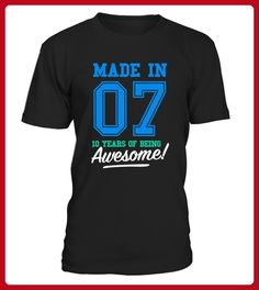 Made In 2007 Awesome 10th Birthday Shirt - Shirts für freundin mit herz (*Partner-Link)