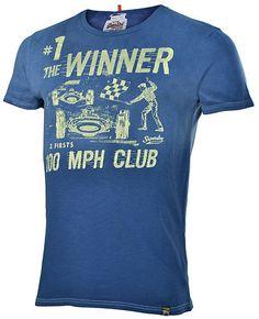 SuperDry Men's Vintage Look Motor Racing Tee T-Shirt-Indian Blue | eBay