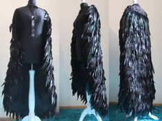 Feather cloak by Pinkabsinthe fashion clothes clothing equipment gear magic item | Create your own roleplaying game material w/ RPG Bard: www.rpgbard.com | Writing inspiration for Dungeons and Dragons DND D&D Pathfinder PFRPG Warhammer 40k Star Wars Shadowrun Call of Cthulhu Lord of the Rings LoTR + d20 fantasy science fiction scifi horror design | Not Trusty Sword art: click artwork for source