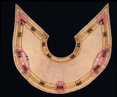 Collar | Jessie Newbery, Glasgow Scotland, c. 1900, embroidered linen with silks/beaded/appliqued | V&A Search the Collections