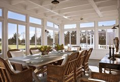 Big sunroom in the Hamptons