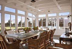 Big sunroom in the Hamptons