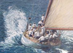 Sailing. Oil on Canvas