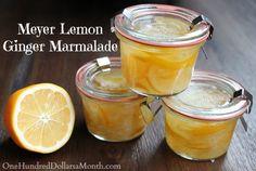 Meyer Lemon-Ginger Marmalade Recipe Canning Recipe