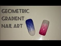 Geometric Gradient Nail Art || Amber Nails - http://www.nailtech6.com/geometric-gradient-nail-art-amber-nails/