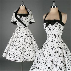 Vintage 1950s Dress Womens Fashion | Big Fashion Show sun dress..... BEAUTIFUL!!!