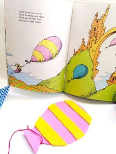 Dr Seuss Oh the Places You'll Go hot air balloon travel preschool Craft for Kids
