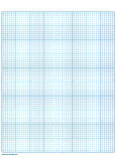 Printable 7 Squares Per Inch Blue Graph Paper for A4 Paper A4 Paper, Graph Paper, Printable Paper, Squares, Free Printables, Templates, Math, Blue, Stencils
