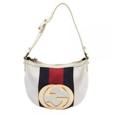 "Authentic Gucci Blondie White Leather Bag Very pretty purse and easy to carry from Gucci. The outside shows scuffing throughout and also staining pls see pics. The hardware shows scratches. The inisde shows staining. Dimensions: 8"" x 1"" x 7.5"". Handle drop is 8"". PLS NOTE I SHIP MY ITEMS ATLEAST 4 DAYS. You will be keep updated. Gucci Bags Shoulder Bags"