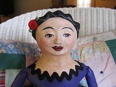 bungalow gals studio: Corazon   cloth & clay art doll by Patti Durovchic