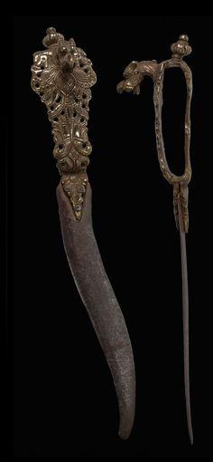 Bichawa dagger: ca. 1576 – 1625  Southern India – Tanjore Maratha - Viajayanagara Kingdom (1336-1646)