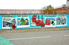 "Shankill Road ""Peace Wall"" - Belfast, Northern Ireland"