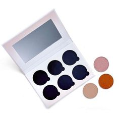 Refillable eyeshadow palette with a wide range of eyeshadows to choose from, all handmade in the UK with vegan and cruelty-free ingredients, perfect for those looking for an eco friendly eyeshadow. Strawberry Milkshake, Raspberry Lemonade, Makeup Palette, Eyeshadow Palette, Eco Friendly Makeup, Brown Glass Bottles, Eyeshadow Pans, Rhubarb And Custard, Candy Floss