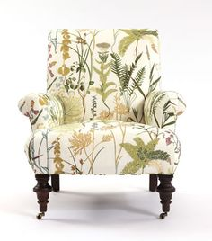 Burton Chair in the fabric Fern in the color Spring from the Botanical Garden Fabric Collection. Image: calicocorners.com.