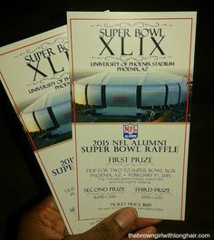The Hubs and I have our 2015 Super Bowl raffle tickets. Do you? #SuperbowlXLIX #NFL The Brown Girl with Long Hair: Win a Trip to Superbowl XLIX in Phoenix, AZ!