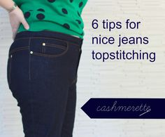 Tutorial: 6 tips for nice jeans topstitching | Cashmerette: Plus Size Sewing