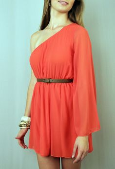 looks a lot like one of the dresses blake wears on gossip girl. (hers is black). and i love it in coral!