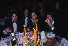 Romy Schneider lors d'un diner à Paris en 1979