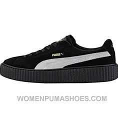 3c31d1b1bcf Puma By Rihanna Creeper (Mens) - Black White Authentic S6kmt