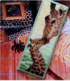 giraffe plastic canvas