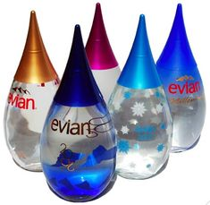 and now they are copying the chinese water bottles....Evian water #packaging showcase PD