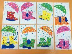 Autumn Tree Painting Ideas for Kids Autumn Crafts, Autumn Art, Spring Crafts, Painting For Kids, Art For Kids, Crafts For Kids, Preschool Weather, Preschool Crafts, Rain Crafts