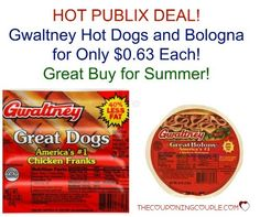CHEAP Gwaltney Bologna and Hot Dogs @ Publix!!  Pay as little as $0.63 each! Stock up!  Click the link below to get all of the details ► http://www.thecouponingcouple.com/cheap-gwaltney-hot-dogs-and-bologna-publix/  #Coupons #Couponing #CouponCommunity  Visit us at http://www.thecouponingcouple.com for more great posts!