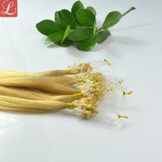Blonde Color #22 Nicro Loop Hair Extensions Best Human Hair Extensions ON SALE…