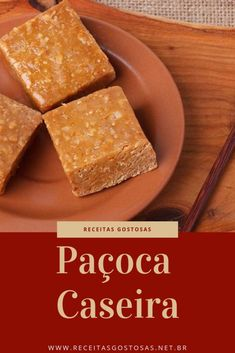 Receita de Paçoca Caseira Baking Recipes, Vegan Recipes, Snack Recipes, Snacks, How To Make Bread, Churros, Chocolate, Cornbread, Sweet Like Candy