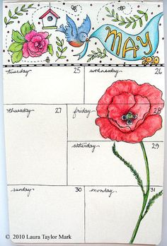 A doodle a week keeps your journal looking beautiful! Adding days in different…