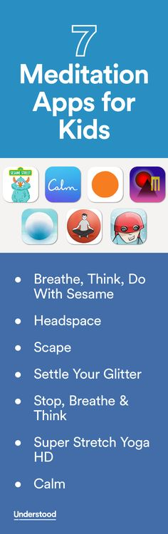 "Many parents say meditation is a helpful tool for their kids. More research is needed to understand how meditation might specifically benefit kids with learning and attention issues. But it can be a good way to help all kids cope with stress and ""quiet the mind."" Here are seven apps to introduce your child to meditation. Try Tech Finder for more: u.org/TechFinder"