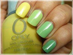 Yellow to green mani