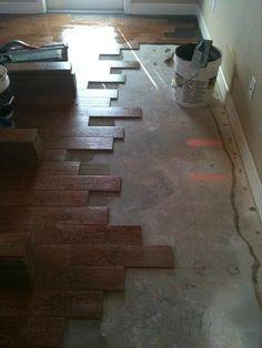 Tile that looks like wood planks.  LOVE IT!!