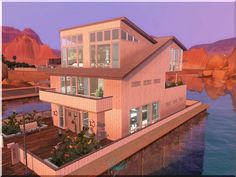 Lake house at Visty 6 - Sims 3 Finds