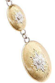 Buccellati - Macri 18-karat Yellow And White Gold Diamond Earrings - one size