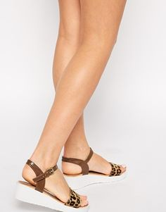 Glamorous Animal Print Strap WedgeSandals.  Nice and comfortable for a chic commute!