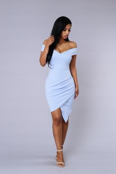 - Available in Blue, Black, Wine, and Peach - Off Shoulder - Overlapped - Made in USA - 65% Rayon 30% Nylon 5% Spandex