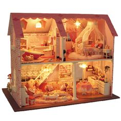 Doll House DIY Miniature Pink Sweetheart 3D
