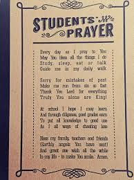 Image result for school prayers for students
