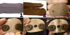 How to make Sock Sloth 1-6