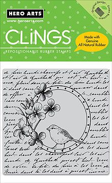 Hero Arts Rubber Clings Stamps Bird in A Circle CG181   eBay