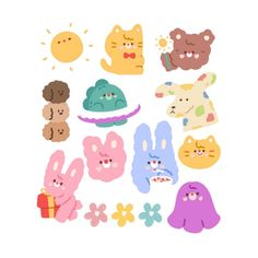 Pop Stickers, Tumblr Stickers, Kawaii Stickers, Printable Stickers, Journal Stickers, Planner Stickers, Korean Stickers, Aesthetic Pastel Wallpaper, Aesthetic Stickers