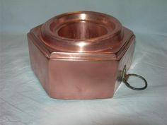 Vintage Antique Dovetailed French Copper Food Jelly Pudding Mold Hexagonal Shape | eBay