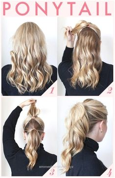 Nice Easy and Quick Ponytail Hairstyles for Work The post Easy and Quick Ponytail Hairstyles for Work… appeared first on Emme's Hairstyles .