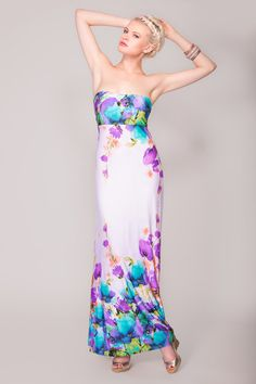 https://www.cityblis.com/8069/item/7709  JULIANNE, STRAPLESS MAXI DRESS - $353 by Arzu Kara  The ultimate strapless maxi dress with built in cups to prevent unwanted bra lines. Fabric is the softest Poly/Elastane with great drape qualities to create the perfect fit. A size Small measures 143 cm from the top of the bust line to the hem. The model is a UK size 10, 5 ft 10 tall  and wea...