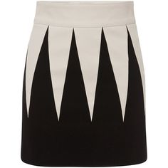Fausto Puglisi Geometric Mini Skirt ($675) ❤ liked on Polyvore featuring skirts, mini skirts, mini skirt, short skirts, short black skirt, fitted skirts and fausto puglisi