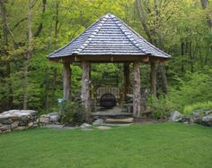 Natural Log Wood Gazebo (New York)