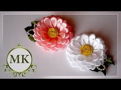DIY how to make a butterfly from satin ribbon, kanzashi tutorial Satin Ribbon Flowers, Cloth Flowers, Ribbon Art, Diy Ribbon, Fabric Ribbon, Ribbon Crafts, Flower Crafts, Fabric Flowers, Satin Ribbons
